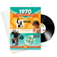 1970 46th Birthday | Anniversary Gift -1970 4-In-1 Card,Book,CD and Download