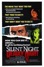 Silent Night Deadly Night Poster 01 Metal Sign A4 12x8 Aluminium