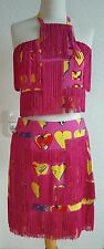 Versace H&M Kleid Herz Franzen Seide dress heart silk EUR Gr. 34, 36, 38, 40, 42