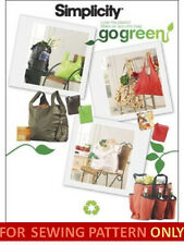 SALE! SEWING PATTERN! MAKE CLOTH GROCERY~SHOPPING BAG~TOTE!  GO GREEN!