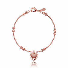 Joma Jewellery LIBBY rose gold chain bracelet heart charm in gift bag, love