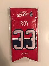 PATRICK ROY Montreal Canadiens Jersey Retirement Number Banner 33 NHL Sealed!