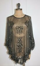 Embellished Cape Ladies Sheer Fringe Cape By WILLOW AND CLAY NEW SMALL