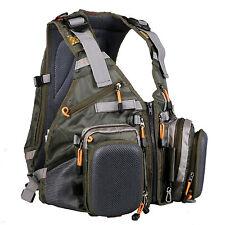Multi-pocket Fly Fishing Backpack Chest Vest Back Pack Outdoor Size Adjustable