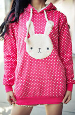 Kawaii Cute Sweet Lolita Bunny Bear Winter Thicken Jacket Coat Sweater Hoodie