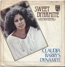 "CLAUDJA BARRY - Sweet dynamite - VINYL 7"" 45 ITALY 1976 VG+ COVER VG CONDITION"