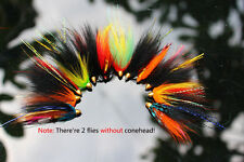 12 pcs Assorted Tube Fly Set Fly Fishing Flies Salmon Flies Trout Fly