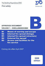 """Building Regulations: Approved Document B v. 1, Stationery Office, """"AS NEW"""" Book"""