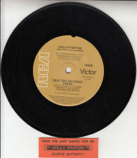 "DOLLY PARTON  Save The Last Dance For Me 7"" 45 rpm record + juke box title strip"