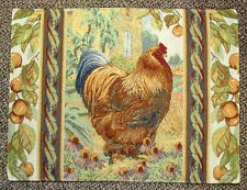 Les Poulets French Country Rooster Tapestry Placemat