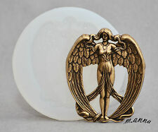 GODDESS ANGEL SILICONE MOULD  cupcake fimo resin plaster chocolate mold
