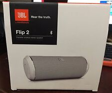 JBL Flip 2 portable wireless stereo speaker Bluetooth in white color By Harman