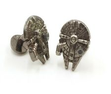 Star Wars Millennium Falcon Cufflinks Millenium Cuff links Tie clip UK SELLER