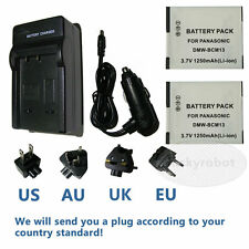 2* Battery+Charger For Panasonic Lumix DMC-TZ40 DMC-TZ55 DMC-TZ60 Digital Camera