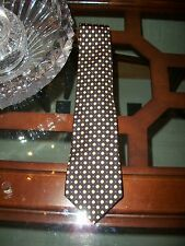 "used SALVATORE FERRAGAMO black ""penguin"" novelty silk tie $180 Italy"