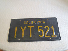 1963 California License plate IYT521