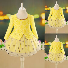 3-7Y Kids' Girls spring autumn Long sleeves Formal Princess Holiday party Dress