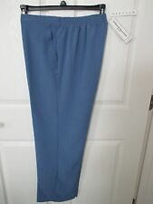 NWT- ALFRED DUNNER Woman's Pants - Lake Blue - sz 12P - MSRP $46.00.