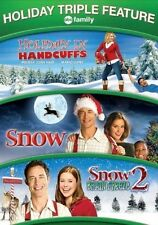 Holiday in Handcuffs / Snow / Snow 2: Brain Freeze Movie, New, Free Shipping
