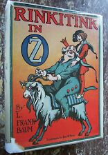 Rinkitink in Oz, Early Edition, L.Frank Baum with Original DJ