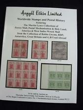 ARGYLL ETKIN AUCTION CATALOGUE 2014 with 'LYNES' FORCES MAIL HOLY LAND WI WRECK