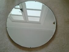 """Vintage Art Deco Round Wall Mirror with Bevelled Edging 24"""""""