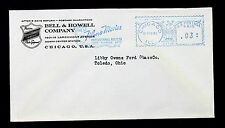 "US STAMP 1942 Meter Stamp on BELL & HOWELL CO. ""Filmo Movies"" Slogan"
