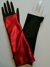 Black & Red Gloves Sleeves for your Batman Harley Quinn Costume Cosplay