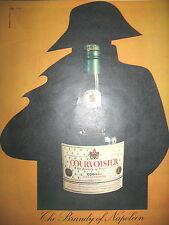 PUBLICITE DE PRESSE COURVOISIER COGNAC BRANDY OF NAPOLEON FRENCH AD 1960