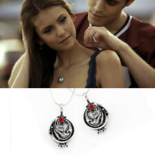Hot The Vampire Diaries Elena's Vervain Verbena Necklace Antique Locket Pendant