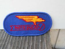 "VINTAGE MOTO DUCATI SEW ON FABRIC  PATCH 4 "" L X 2"""" TALL OLD STOCK"