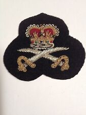 Vintage Gold/Silver Bullion Crown And Swords Sew On Patch