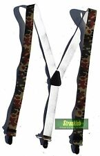 GERMAN ARMY STYLE ELASTICATED TROUSER BRACES BUNDESWEHR IN FLECKTARN CAMO