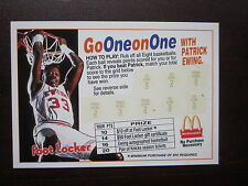 Patrick Ewing 1993 McDonalds Foot Locker Scratch Off Card Go One On One Nr Mint