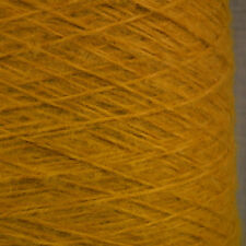 SUPER SOFT BRUSHED YARN MUSTARD YELLOW DOUBLE KNITTING 500g CONE MOHAIR FEEL DK