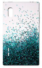 CUSTODIA COVER CASE  FANTASIA BRILLANTI BLU AZZURRO PER LG Optimus L5 E610