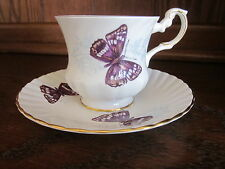 Rosina Queen's Purple Emperor Teacup & Saucer