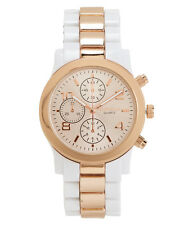 aeropostale womens two-tone metallic watch white wash