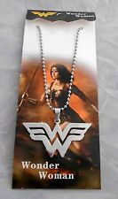 "DC Comics Wonder Woman ""W"" 2"" STAINLESS STEEL DELUXE PENDANT/NECKLACE"