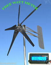 KT5 Wind Turbine LOW  5 Blade 1000W 24 volt AC 3 wire 3.75 kWh W/WATT