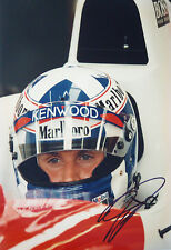 David Coulthard SIGNED 12x8 F1 McLaren Helmet Portrait 1996 GP Season