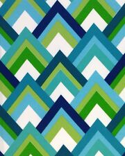 """RICHLOOM RESORT PEACOCK BLUE GREEN OUTDOOR FURNITURE FABRIC BY THE YARD 54"""" W"""