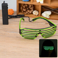 New Shutter Shades Sound Activated LED Flashing Clubbing Glasses Glory Green