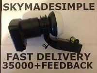 4WAY SKY QUAD LNB LMB MK4 ADAPTOR SKY + PLUS  FREESAT UNIVERSAL SATELLITE 3D HD