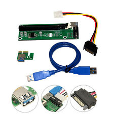 USB 3.0 PCI-E Express x1 To x16 Extender Riser Card Adapter Power Cable Mining