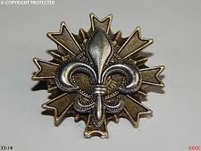 steampunk brooch badge silver fleur de lys French heraldry monarchy lily