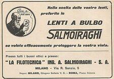 Z0573 Lenti a bulbo La Filotecnica Salmoiraghi - Pubblicità del 1930 - Advertis.