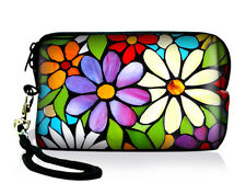 Flowers Digital Camera Pouch Bag Case for Canon Sony Nikon Samsung