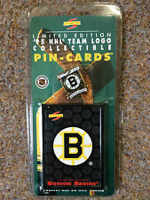 NHL 1995 PINNACLE BOSTON BRUINS ICE HOCKEY PIN BADGE AND CARD SET