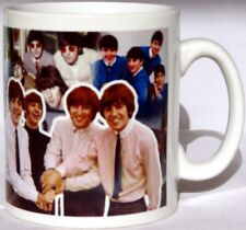 The Beatles Fab Four Mug Tribute Collage Mug Cup Perfect Gift Decorated in UK